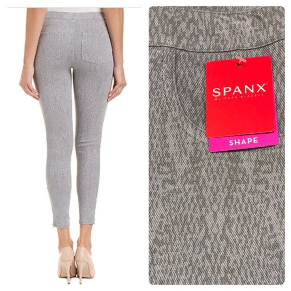 cc0b14131b SPANX Pants | Jeanish Ankle Leggings Nwt Gray Python | Poshmark